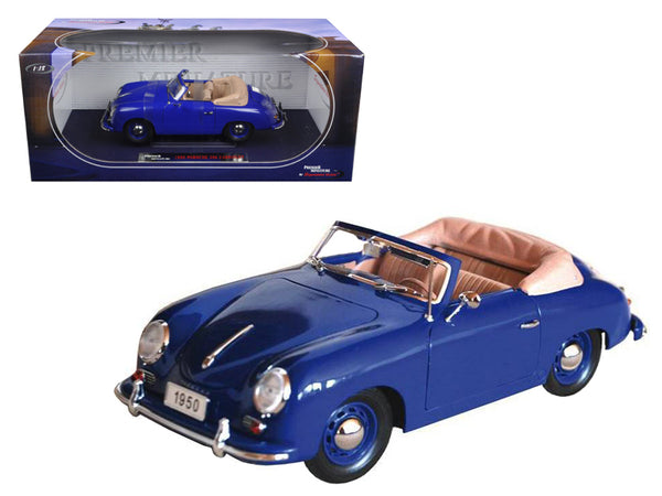 1950 Porsche 356 Convertible Blue 1/18 Diecast Model Car by Signature Models - BeTovi&co