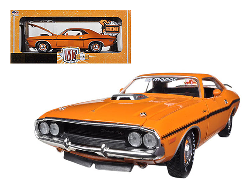 1970 Dodge Challenger R/T HEMI Orange 50th HEMI Anniversary 1/24 Diecast Car Model by M2 Machines - BeTovi&co