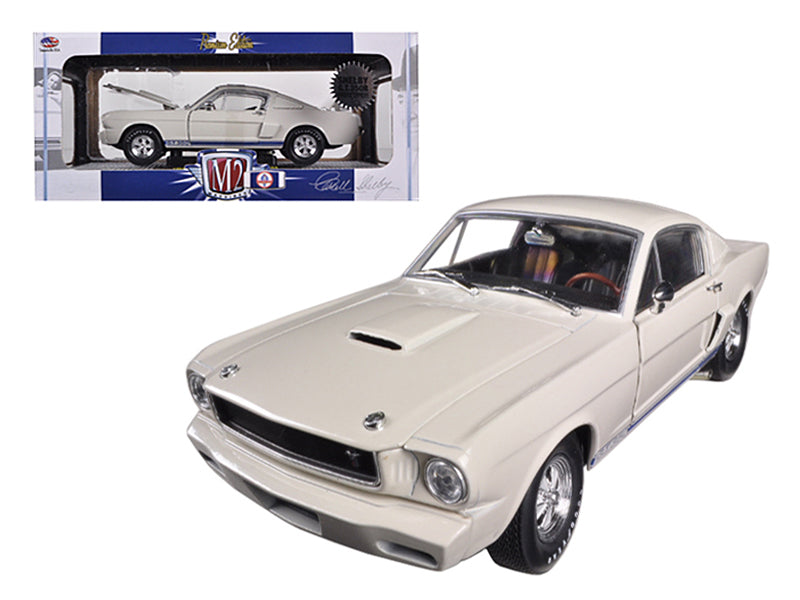 1965 Ford Shelby Mustang GT350R Prototype Wimbledon White 1/24 Diecast Car Model by M2 Machines - BeTovi&co