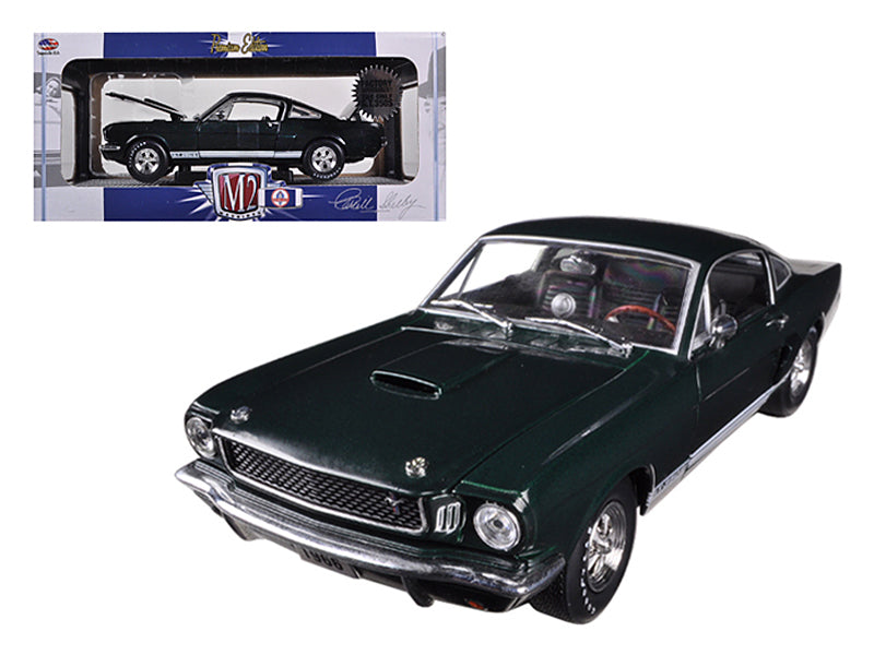 "1966 Ford Shelby Mustang GT350S \Factory Supercharged"" Ivy Green Metallic 1/24 Diecast Car Model by M2 Machines"" - BeTovi&co"