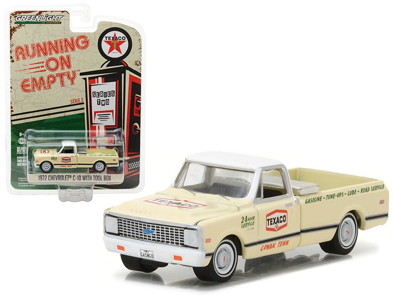 1972 Chevrolet C10 Pickup Truck with Tool Box Texaco 1/64 Diecast Model Car  by Greenlight - BeTovi&co