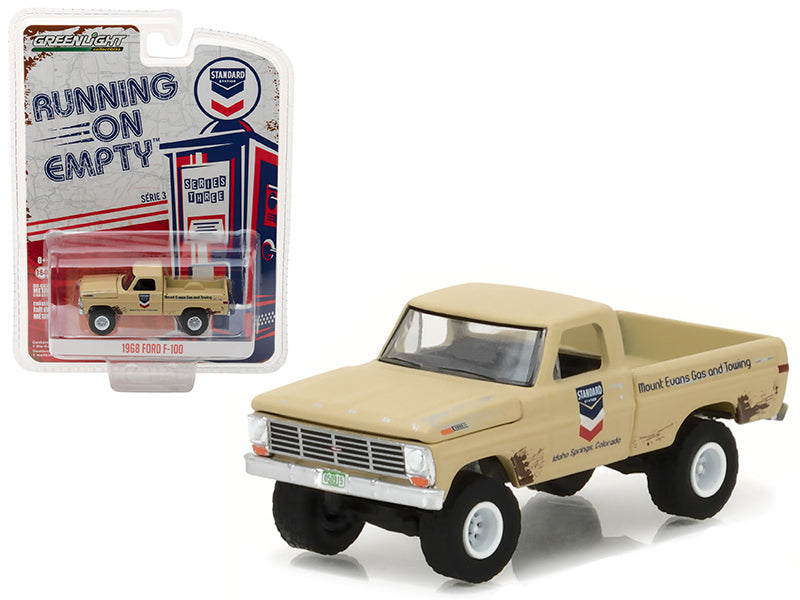 1968 Ford F-100 Pickup Truck Standard Oil 'Running on Empty' Series 3 1/64 Diecast Model Car by Greenlight - BeTovi&co