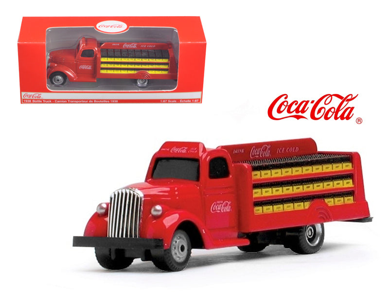 1938 Coca Cola Delivery Bottle Truck 1:87 HO Scale Diecast Model by Motorcity Classics - BeTovi&co