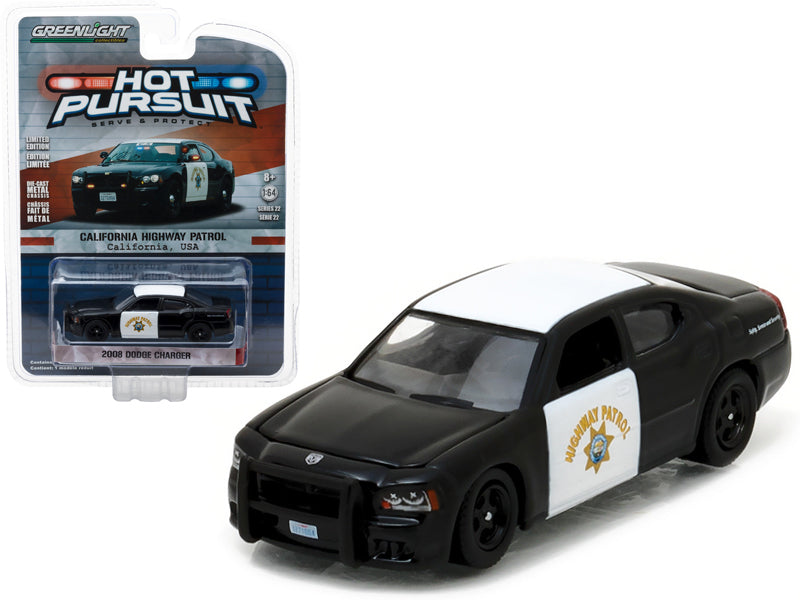 2008 Dodge Charger California Highway Patrol (CHP) 1/64 Diecast Model Car  by Greenlight - BeTovi&co