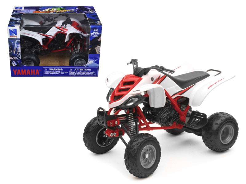2005 Yamaha 660R Raptor White/Red ATV Motorcycle 1/12 Diecast Model by New Ray - BeTovi&co