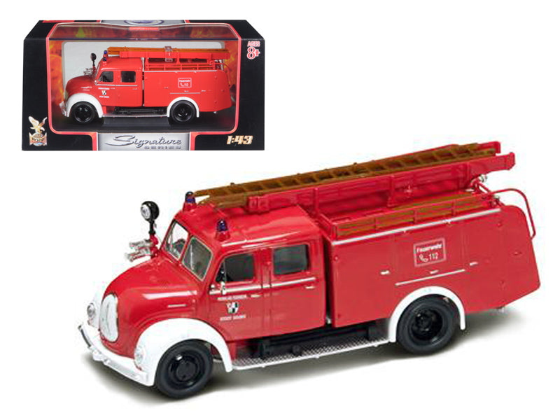 1961 Magirus Deutz Mercur TLF-16 Red/White 1/43 Diecast Model Car by Road Signature - BeTovi&co