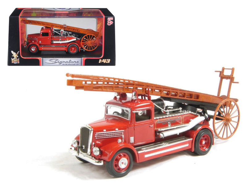 1938 Dennis Light Four Fire Engine Red 1/43 Diecast Car Model by Road Signature - BeTovi&co