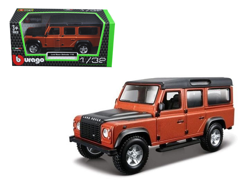 Land Rover Defender 110 4 Doors Orange 1/32 Diecast Model Car by Bburago - BeTovi&co