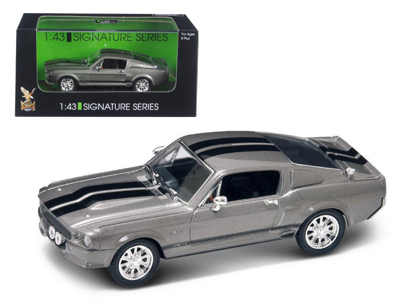 1967 Shelby Mustang GT 500E Grey Signature Series 1/43 Diecast Model by Road Signature - BeTovi&co