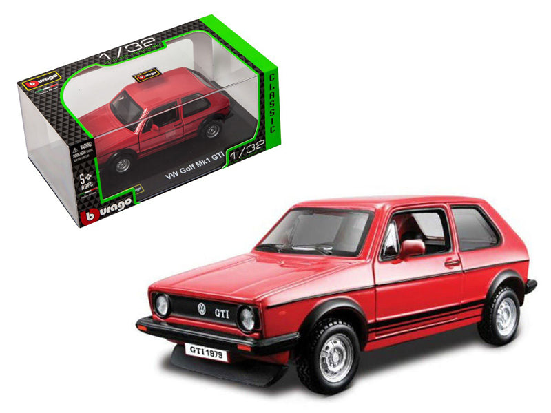 1979 Volkswagen Golf MK1 GTI Red 1/32 Diecast Model Car by Bburago - BeTovi&co