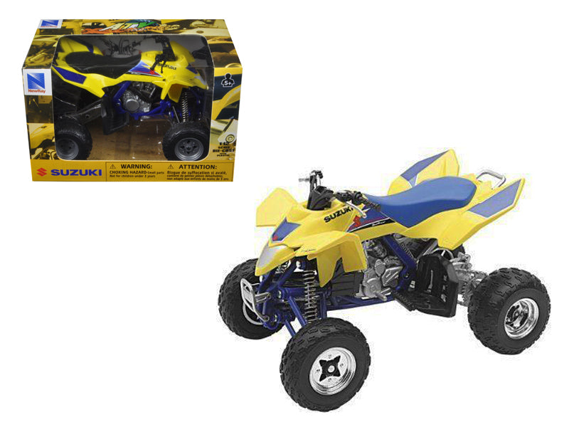 Suzuki Quad Racer R450 Yellow/Blue ATV Motorcycle 1/12 Diecast Model by New Ray - BeTovi&co