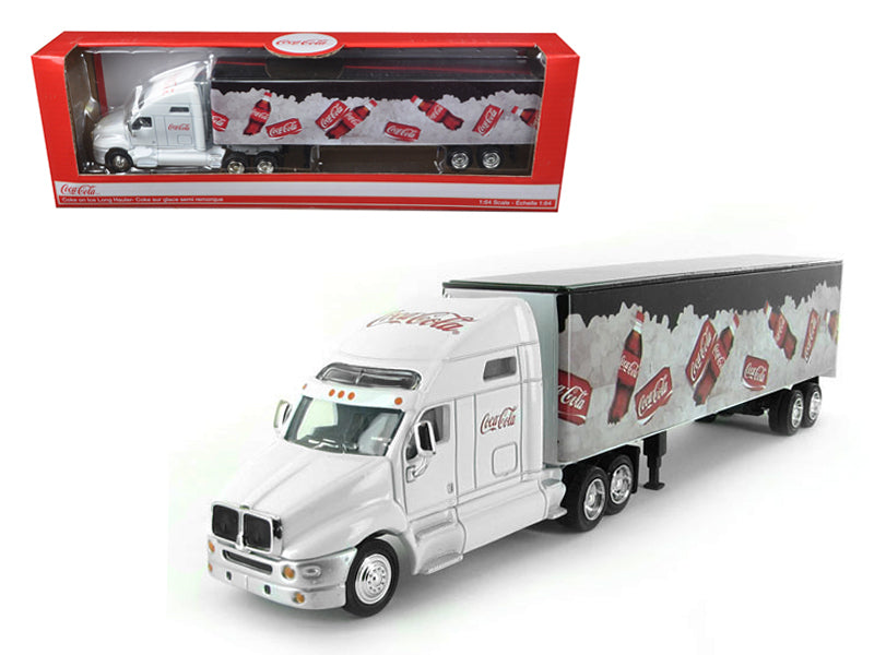 Coca Cola On Ice Tractor Trailer 1/64 Diecast Model by Motorcity Classics - BeTovi&co