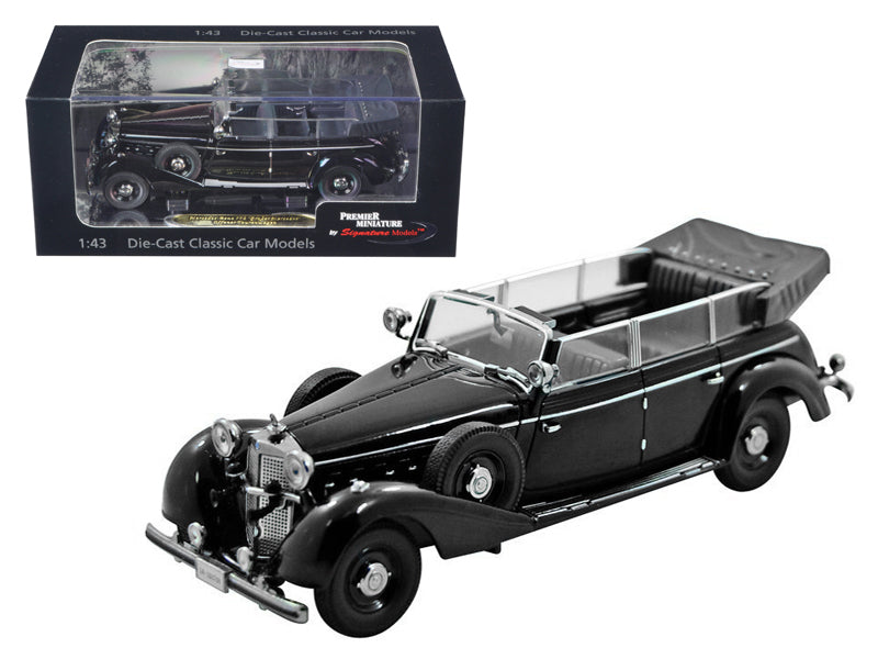 1938 Mercedes 770K Parade Car Black 1/43 Diecast Car Model by Signature Models - BeTovi&co