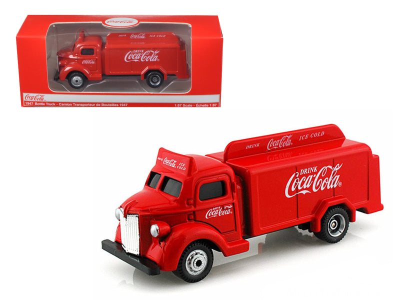 1947 Coca Cola Delivery Bottle Truck Red 1/87 Diecast Model by Motorcity Classics - BeTovi&co
