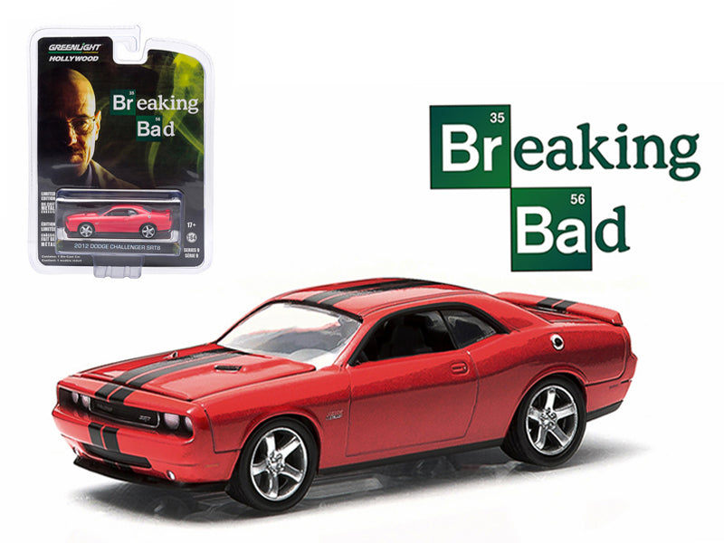"2012 Dodge Challenger SRT-8 Red \Breaking Bad"" 2008-2013 TV Series Episode 5.04 Hollywood Series 9 1/64 Diecast Model Car by Greenlight "" - BeTovi&co"