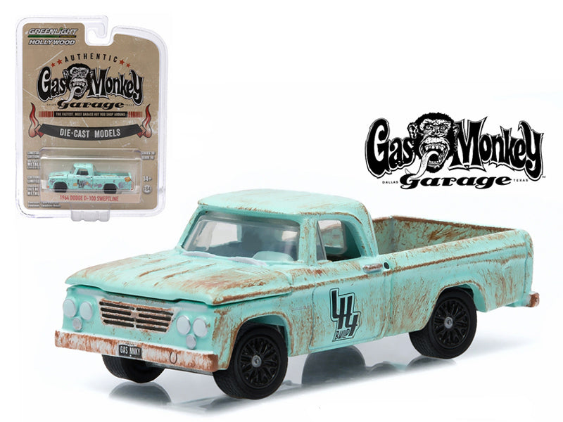 1964 Dodge D-100 Sweptline Gas Monkey Garage 1/64 Diecast Model by Greenlight - BeTovi&co