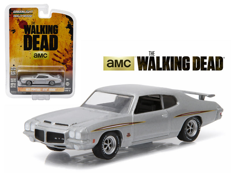 "1971 Pontiac GTO Silver \The Walking Dead"" TV Series Episode 1.01 (2010-2015) 1/64 Diecast Model Car by Greenlight"" - BeTovi&co"