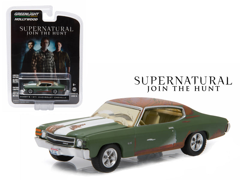 Bobby - BeTovi&cos 1971 Chevrolet Chevelle SS Supernatural '2005 Current TV Series' 1/64 Diecast Model Car by Greenlight - BeTovi&co