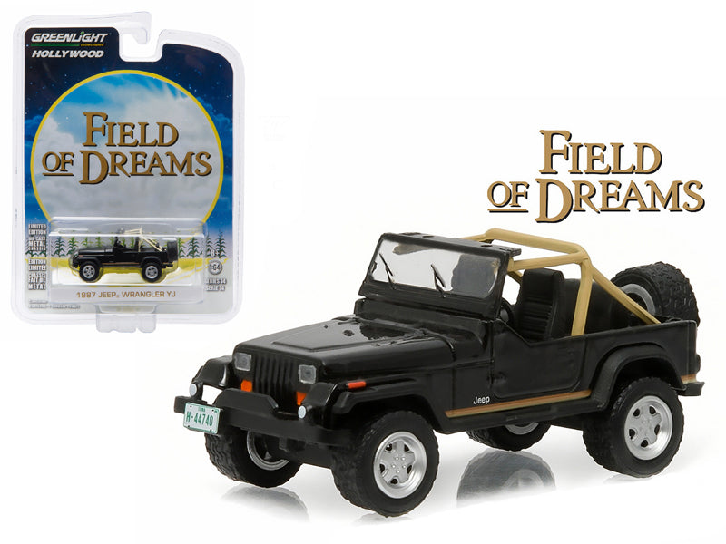 1987 Jeep Wrangler YJ 'Field of Dreams' (1989) Movie 1/64 Diecast Model Car by Greenlight - BeTovi&co