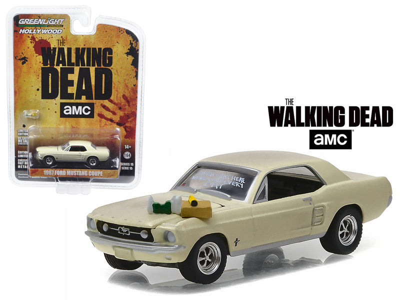 1967 Ford Mustang Coupe 'Sophia Message Car' with Accessories The Walking Dead (2010-Current) TV Series  1/64 Diecast Model Car  by Greenlight - BeTovi&co