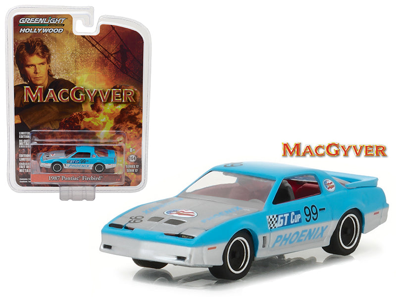1987 Pontiac Firebird 'MacGyver' (1985-1992 TV Series) Hollywood Series 17 1/64 Diecast Model Car by Greenlight - BeTovi&co