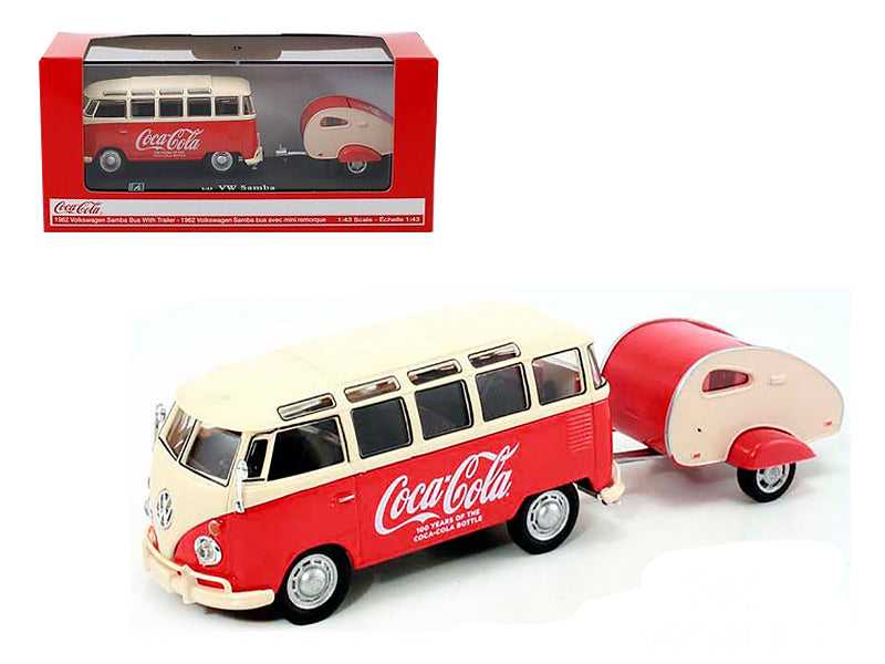 1962 Volkswagen Samba Bus 100 Years Anniversary of the Coca Cola Bottle 1/43 by Motorcity Classics - BeTovi&co