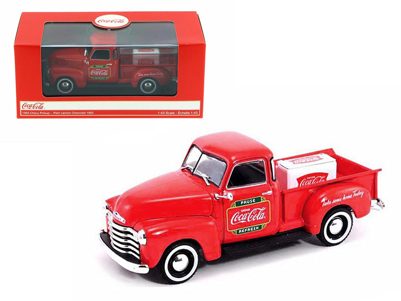 1953 Chevrolet Pickup Truck with Metal Cooler Coca Cola 1/43 Diecast Model by Motorcity Classics - BeTovi&co
