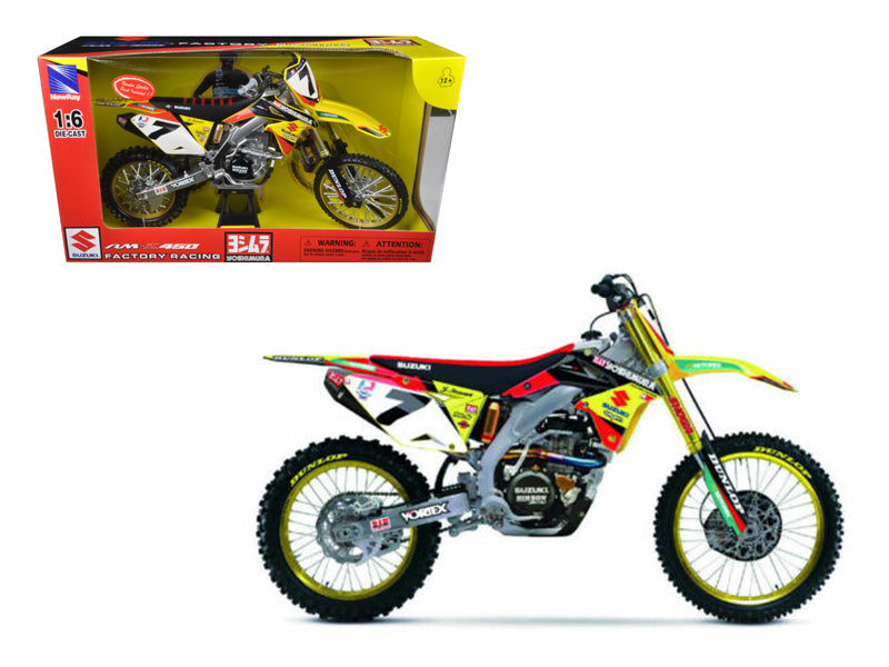 Suzuki Factory Racing RM-Z450 #7 James Stewart Dirt Bike Motorcycle Model 1/6 by New Ray - BeTovi&co