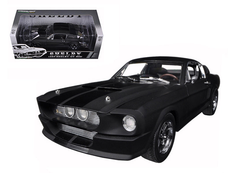1967 Ford Shelby Mustang GT 500 Matt Black with Gloss Black Stripes - BeTovi&co