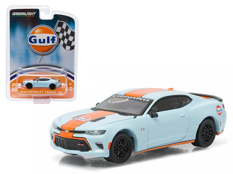 2016 Chevrolet Camaro SS Gulf Oil Hobby Exclusive 1/64 Diecast Model Car by Greenlight - BeTovi&co