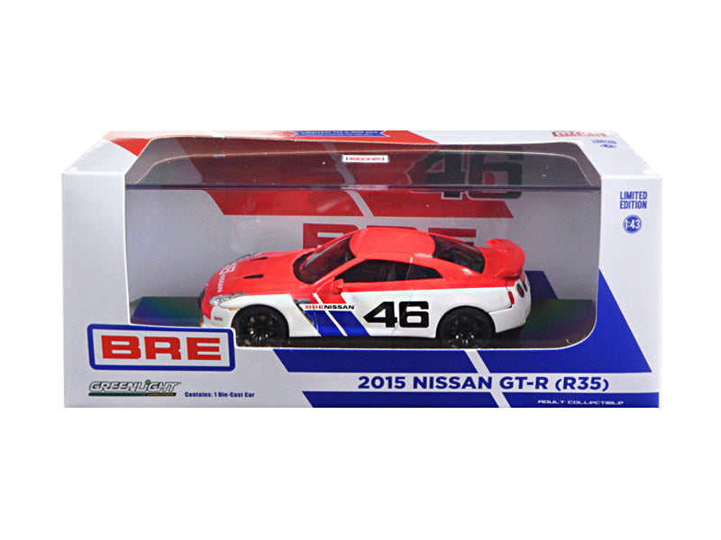 2015 Nissan GT-R (R35) BRE #46 Limited Edition 2300pcs 1/43 Diecast Model Car by Greenlight - BeTovi&co