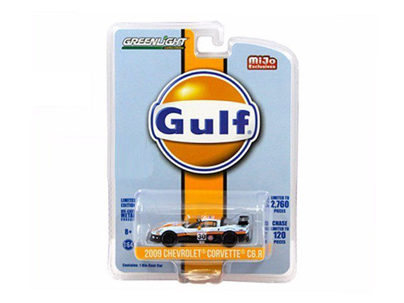 2009 Chevrolet Corvette C6 R #30 Gulf Oil Racing Limited Edition of 2760 1/64 Diecast Model Car by Greenlight - BeTovi&co