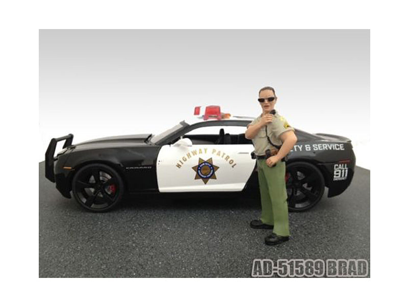 Brad Sheriff Figure For 1:18 Diecast Model Cars by American Diorama - BeTovi&co