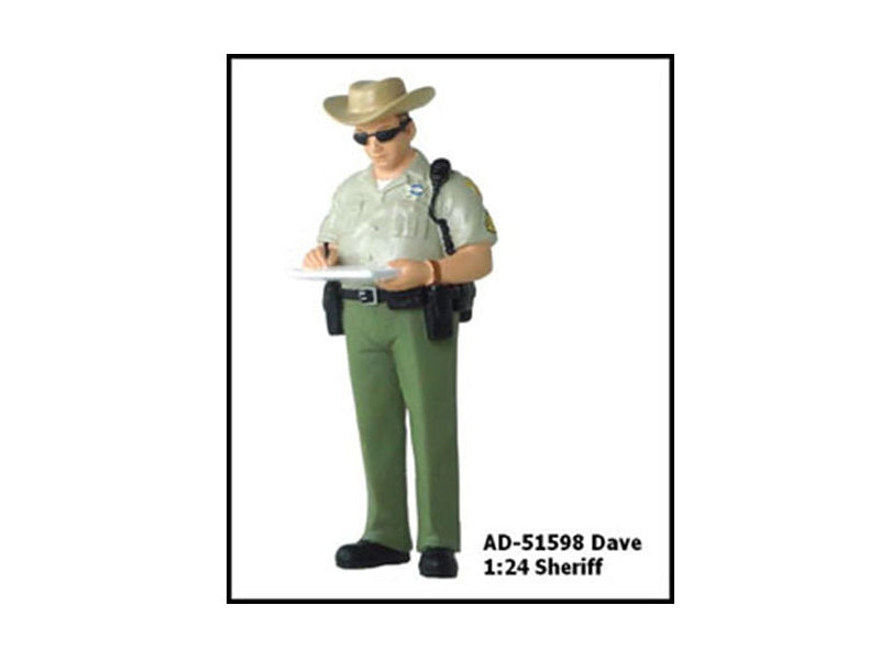 Sheriff Dave Figure For 1:24 Diecast Model Cars by American Diorama - BeTovi&co