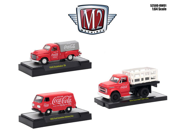 """Coca-Cola"" Release Set of 3 Cars"