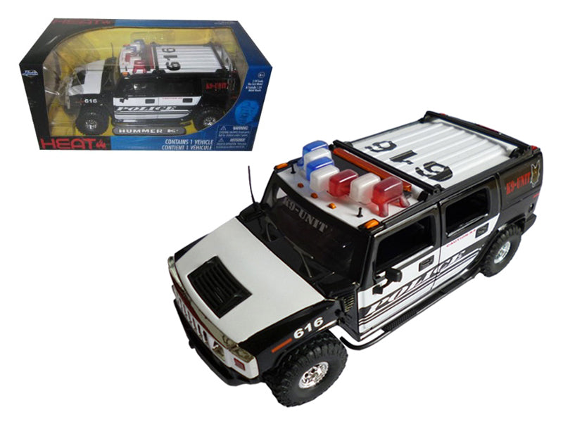 Hummer H2 High Profile Police K-9 Unit 1/24 Diecast Car Model by Jada - BeTovi&co