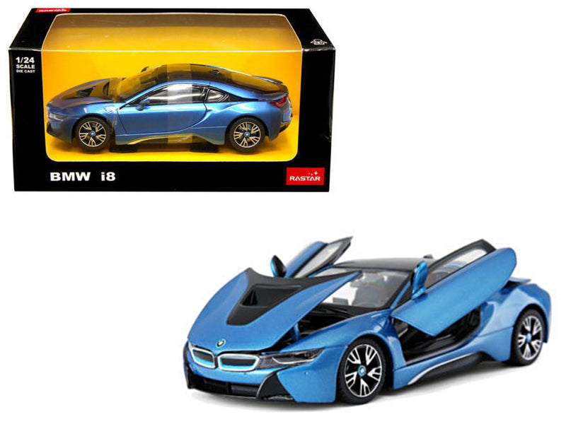 BMW I8 Blue 1/24 Diecast Model Car by Rastar - BeTovi&co