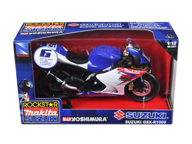 Suzuki GSX-R1000 #6 'Makita, Suzuki, Rockstar' Bike Motorcycle 1/12 by New Ray - BeTovi&co