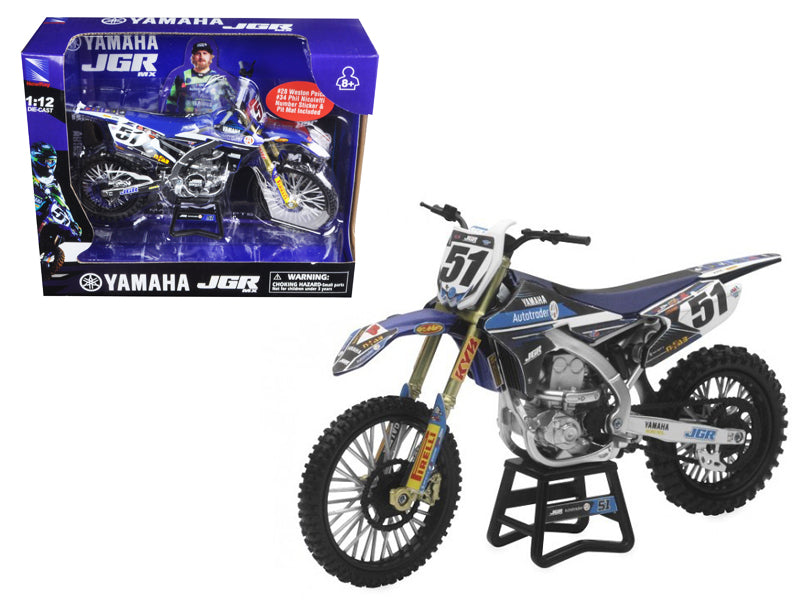 Yamaha JGR  Justin Barcia #51 Motorcycle 1/12 Diecast Model by New Ray - BeTovi&co