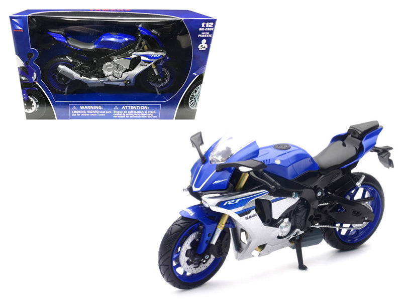 2016 Yamaha YZF-R1 Blue Motorcycle Model  1/12 by New Ray - BeTovi&co