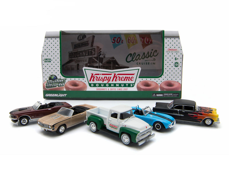 Motor World Diorama Krispy Kreme Donuts 5 Car Set 1/64 Diecast Model Cars by Greenlight - BeTovi&co