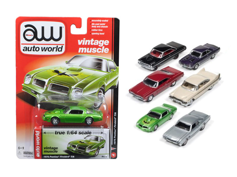 Autoworld Muscle Cars Release 5B Premium Licensed Set Of 6 Cars 1/64 Diecast Model Cars by Autoworld - BeTovi&co