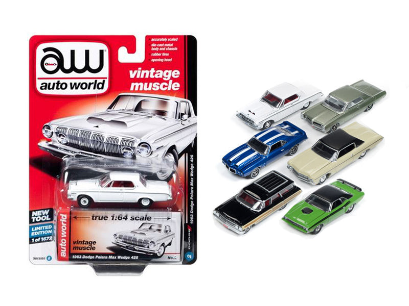 Autoworld Premium 2017 Release 1B Set Of 6 Cars 1/64 Diecast Model Cars by Autoworld - BeTovi&co