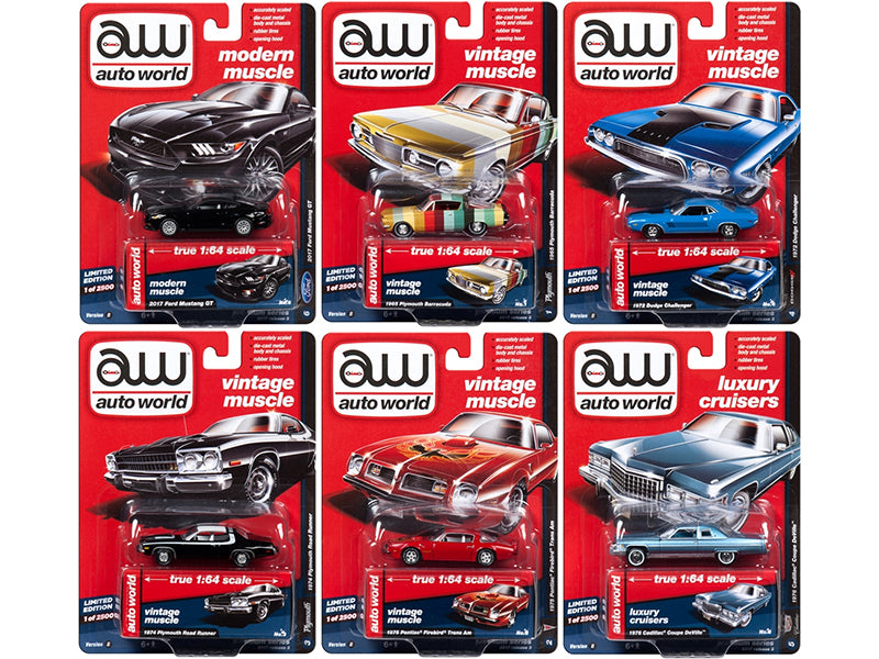 Autoworld Premium 2017 Release 3B Set Of 6 Cars 1/64 Diecast Model Cars by Autoworld - BeTovi&co