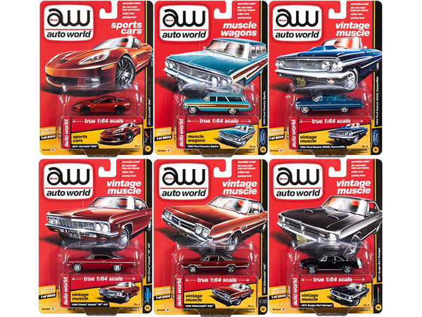 Muscle Cars Premium 2018 Release 1 A Set of 6