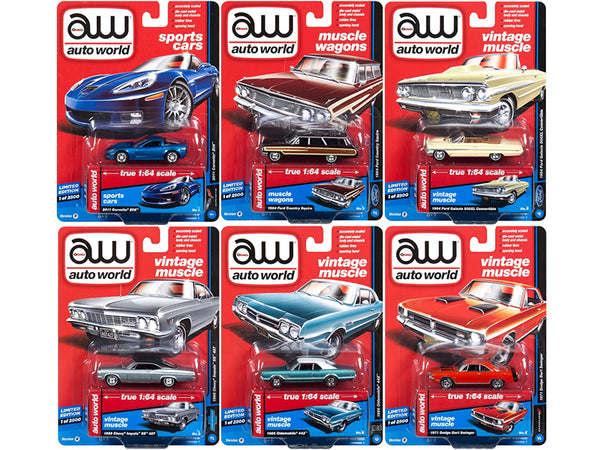 Muscle Cars Premium 2018 Release 1 B Set of 6 Cars