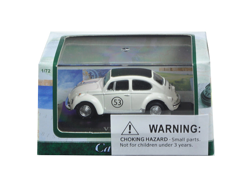 Volkswagen Beetle #53 in Display Case 1/72 Diecast Model Car by Cararama - BeTovi&co