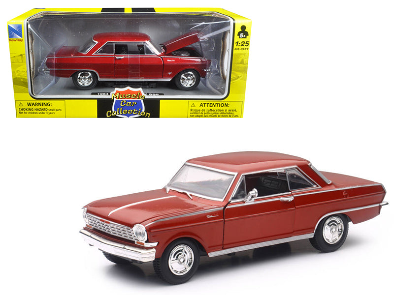 1964 Chevrolet Nova SS Burgundy 'Muscle Car Collection' 1/25 Diecast Model Car by New Ray - BeTovi&co