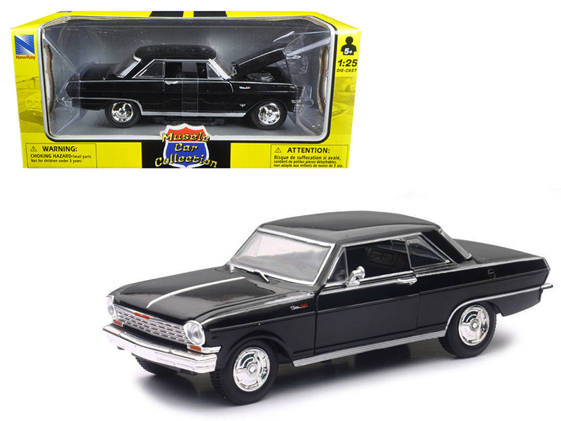 1964 Chevrolet Nova SS Black 'Muscle Car Collection' 1/25 Diecast Model Car by New Ray - BeTovi&co