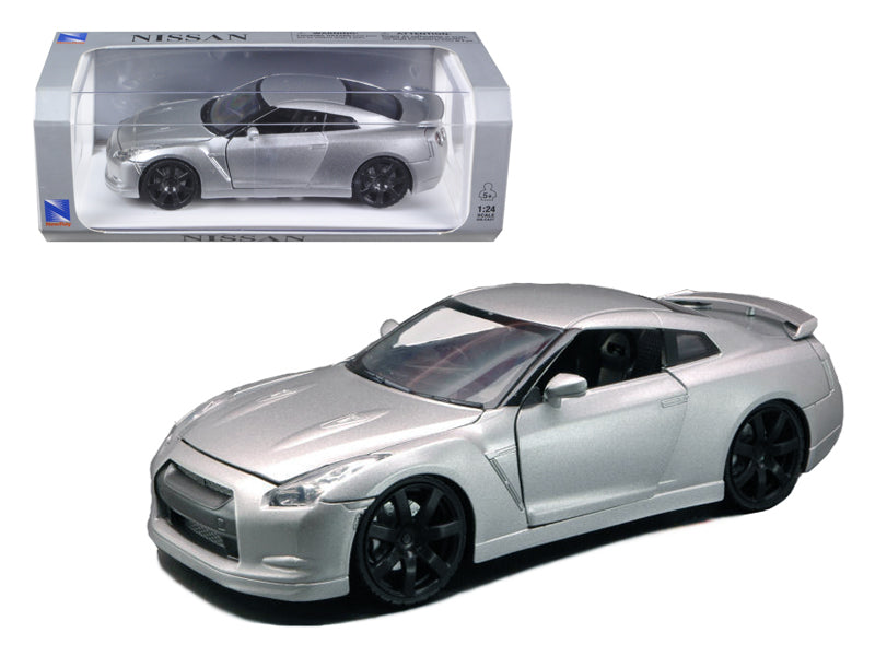2009 Nissan GT-R R35 Silver 1/24 Diecast Model Car by New Ray - BeTovi&co
